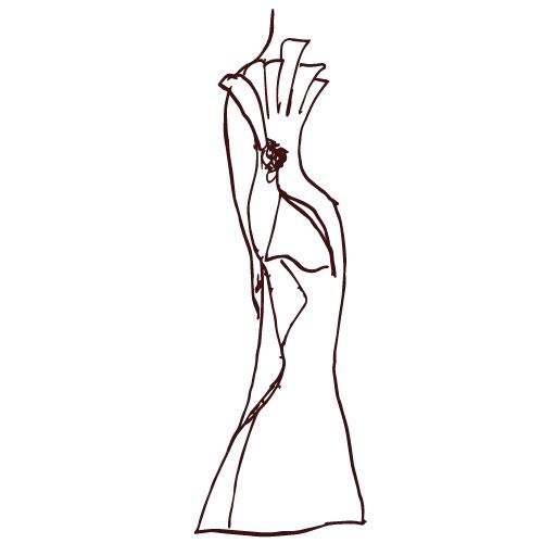 Drappeggi complessi per l'abito Haute Couture
